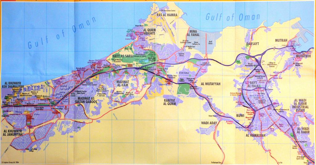 Muscat Map | Maps